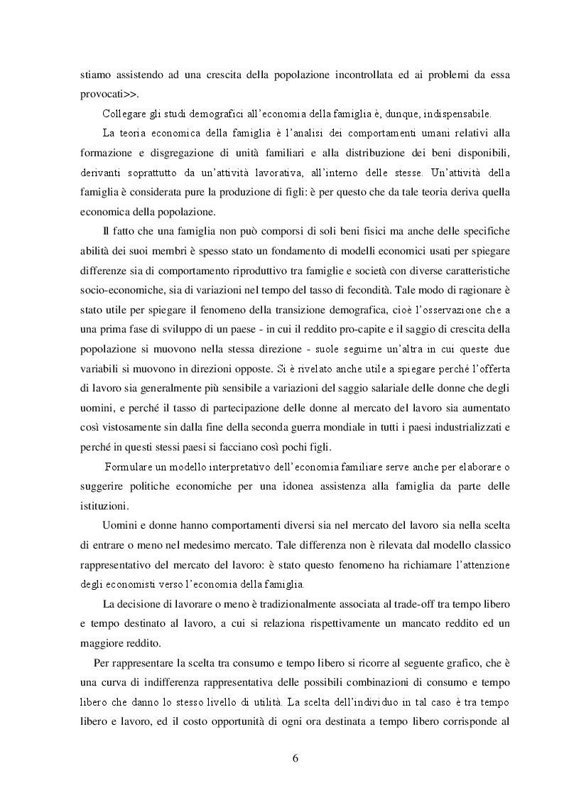 Anteprima della tesi: La Famiglia: un soggetto economico, Pagina 7