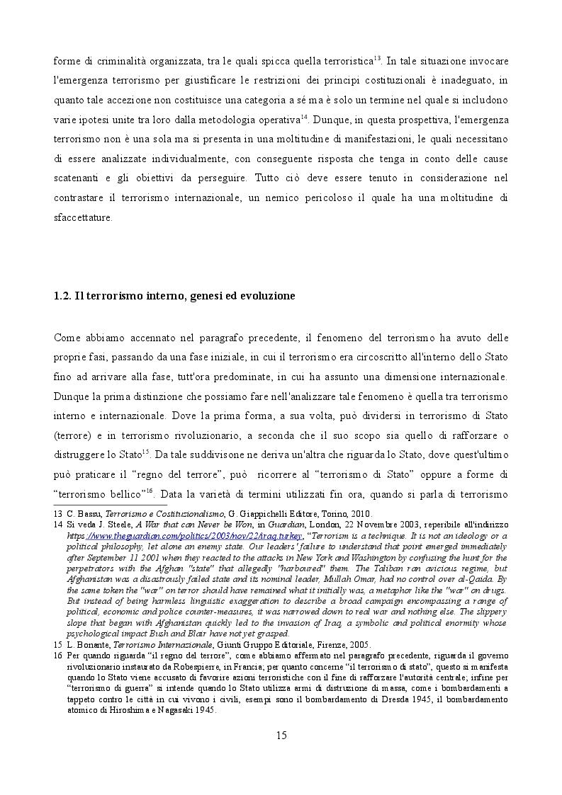 Estratto dalla tesi: La legislazione anti-terrorismo nel Regno Unito tra sicurezza pubblica e tutela dei diritti umani