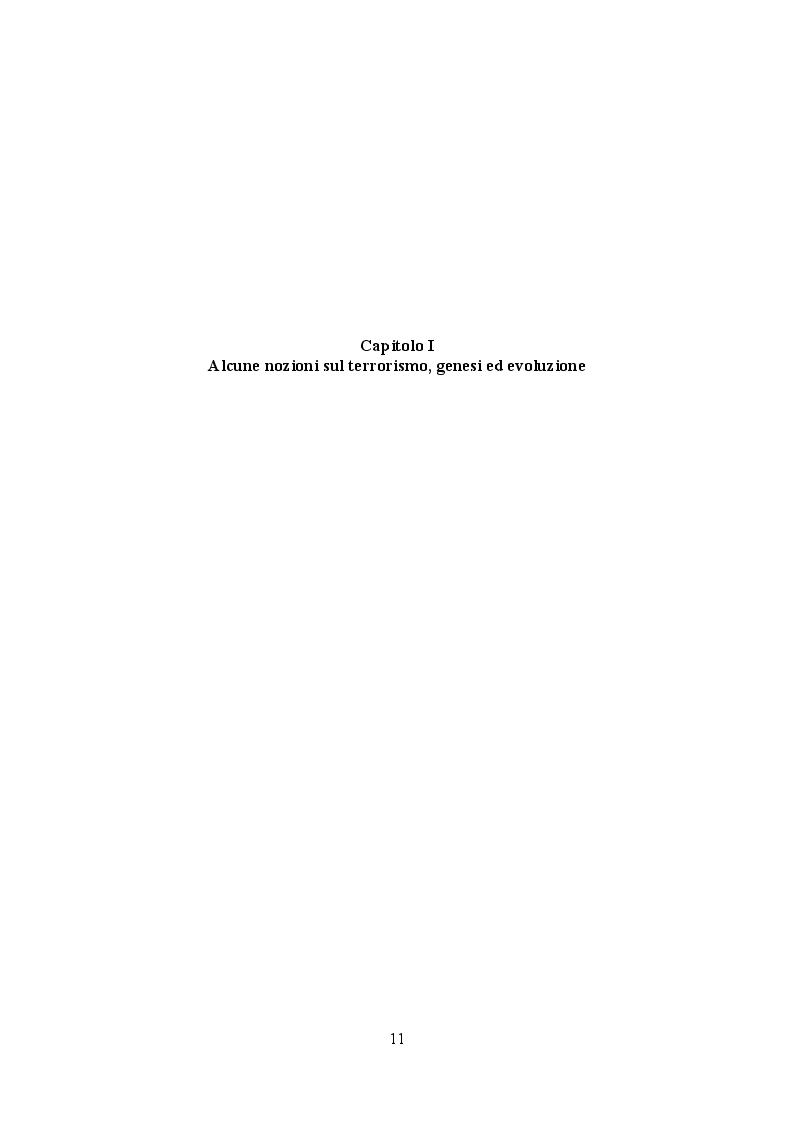 Anteprima della tesi: La legislazione anti-terrorismo nel Regno Unito tra sicurezza pubblica e tutela dei diritti umani, Pagina 7