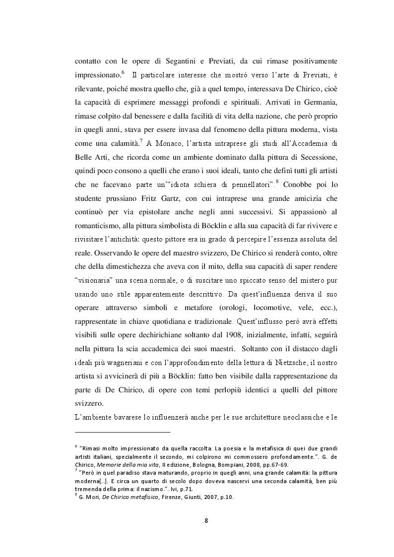 Anteprima della tesi: Storiografia artistica e Giorgio de Chirico: il periodo parigino., Pagina 7