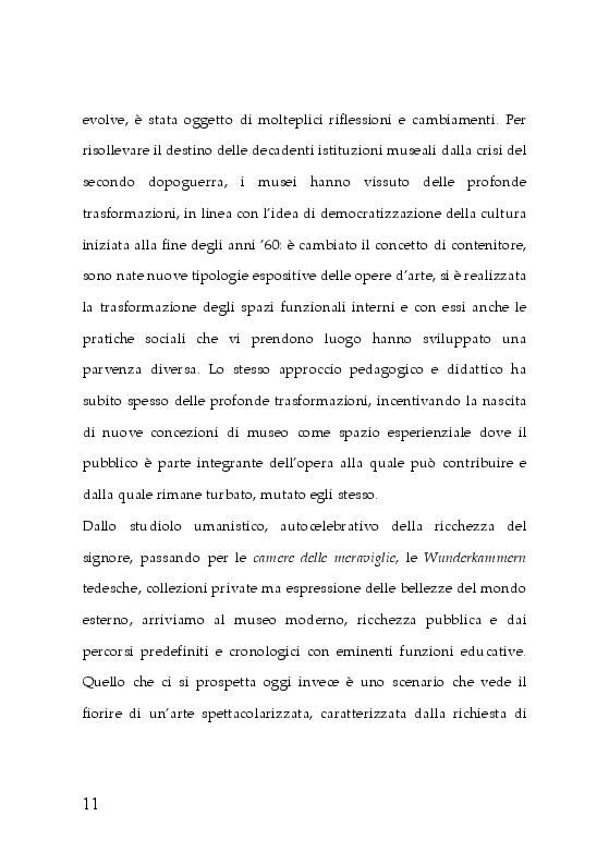 Anteprima della tesi: Trasformazioni museali. Analisi semiotica del Palazzo delle Esposizioni di Roma, Pagina 3