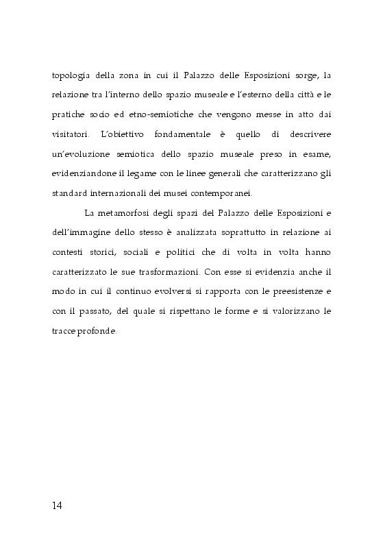 Anteprima della tesi: Trasformazioni museali. Analisi semiotica del Palazzo delle Esposizioni di Roma, Pagina 6
