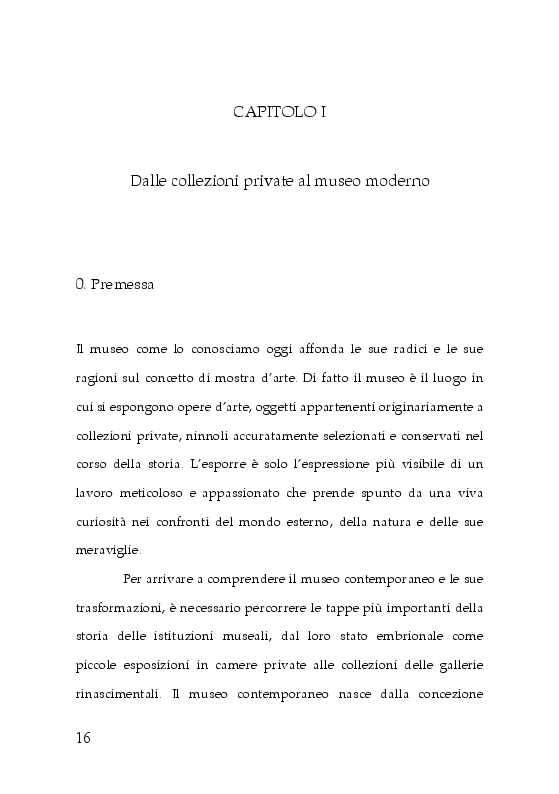Anteprima della tesi: Trasformazioni museali. Analisi semiotica del Palazzo delle Esposizioni di Roma, Pagina 7