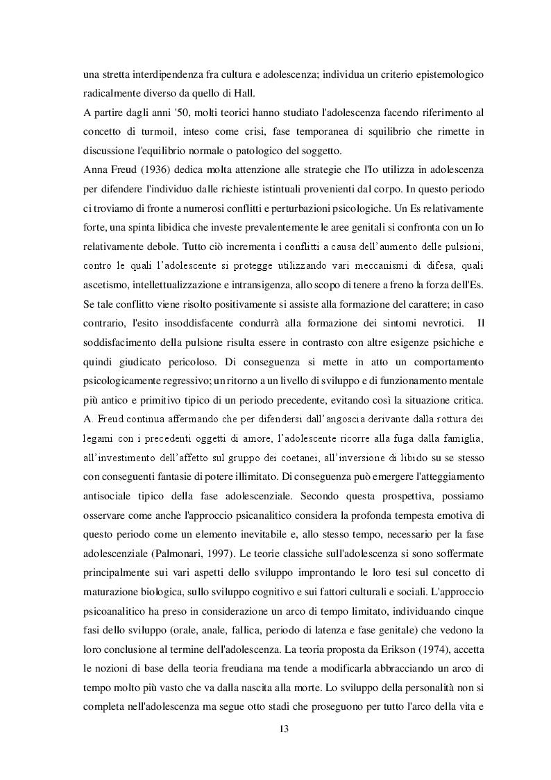 Estratto dalla tesi: Disturbi alimentari e Alessitimia: studio empirico in un campione di adolescenti non referred
