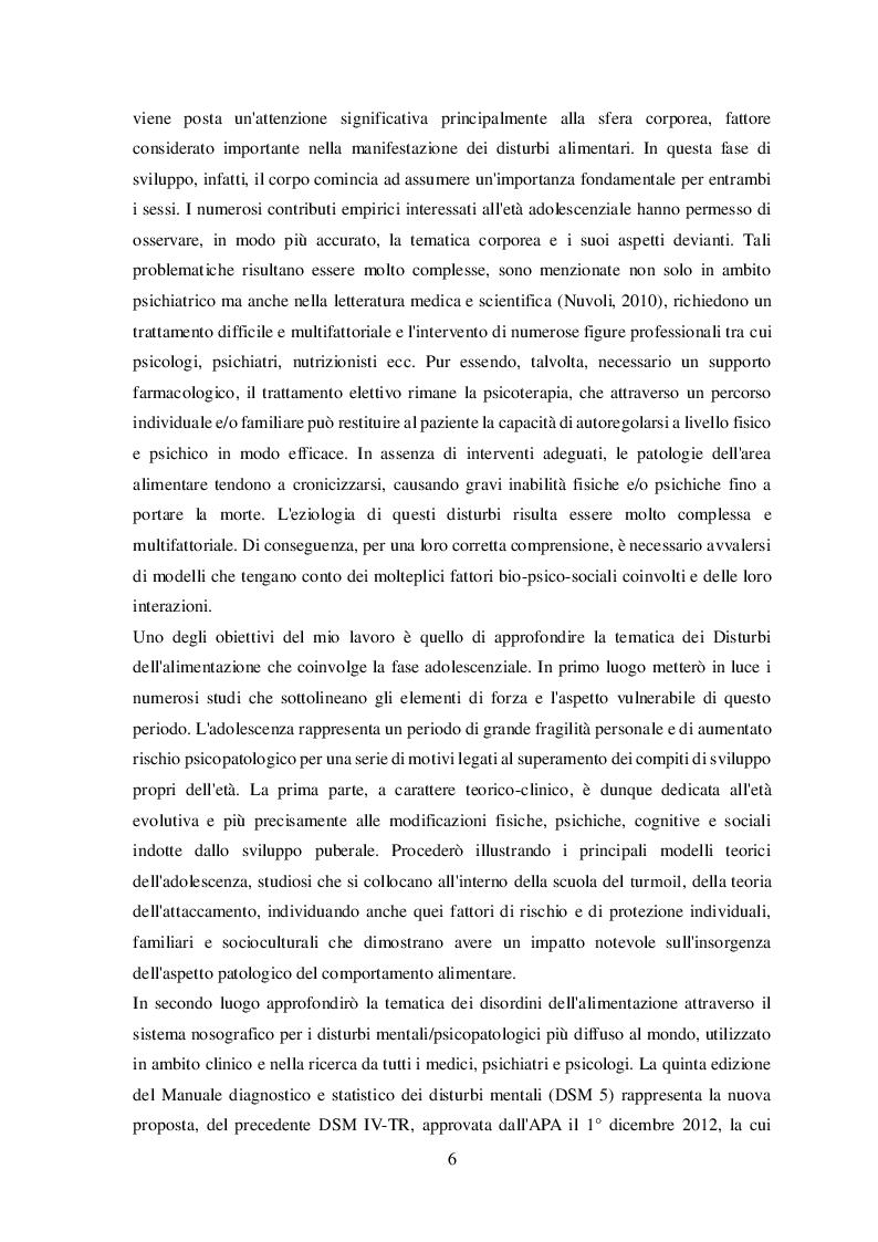 Anteprima della tesi: Disturbi alimentari e Alessitimia: studio empirico in un campione di adolescenti non referred, Pagina 3