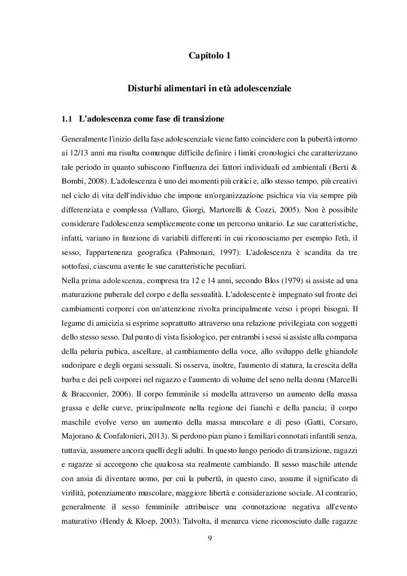 Anteprima della tesi: Disturbi alimentari e Alessitimia: studio empirico in un campione di adolescenti non referred, Pagina 6