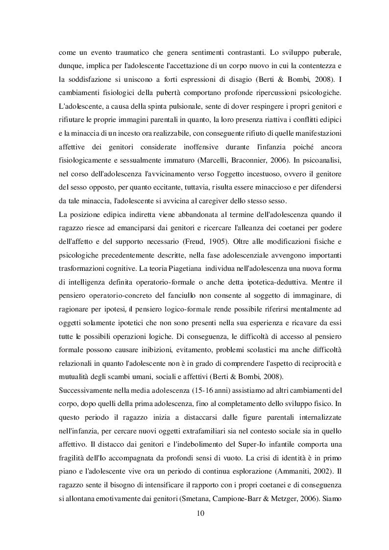 Anteprima della tesi: Disturbi alimentari e Alessitimia: studio empirico in un campione di adolescenti non referred, Pagina 7