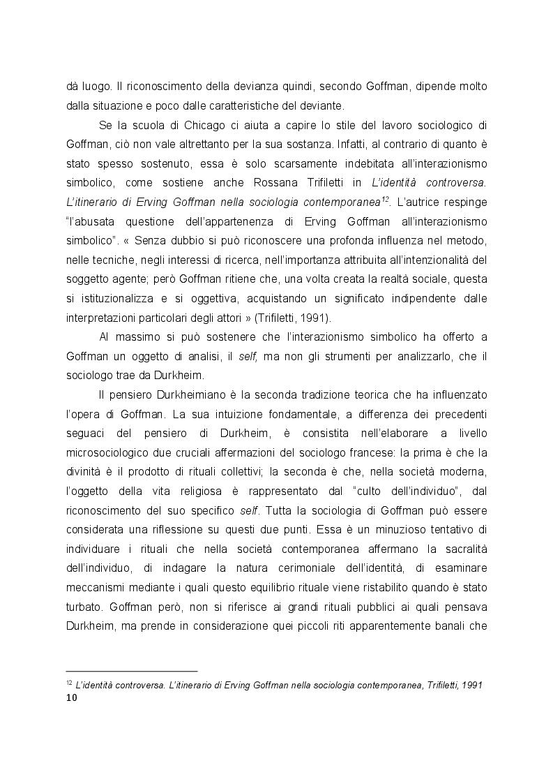 Estratto dalla tesi: L'interazione secondo Erving Goffman e Harvey Sacks