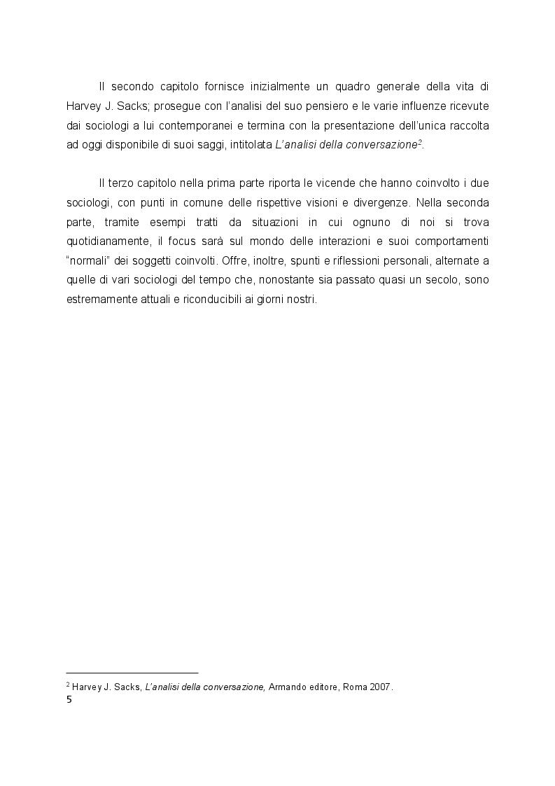 Anteprima della tesi: L'interazione secondo Erving Goffman e Harvey Sacks, Pagina 3