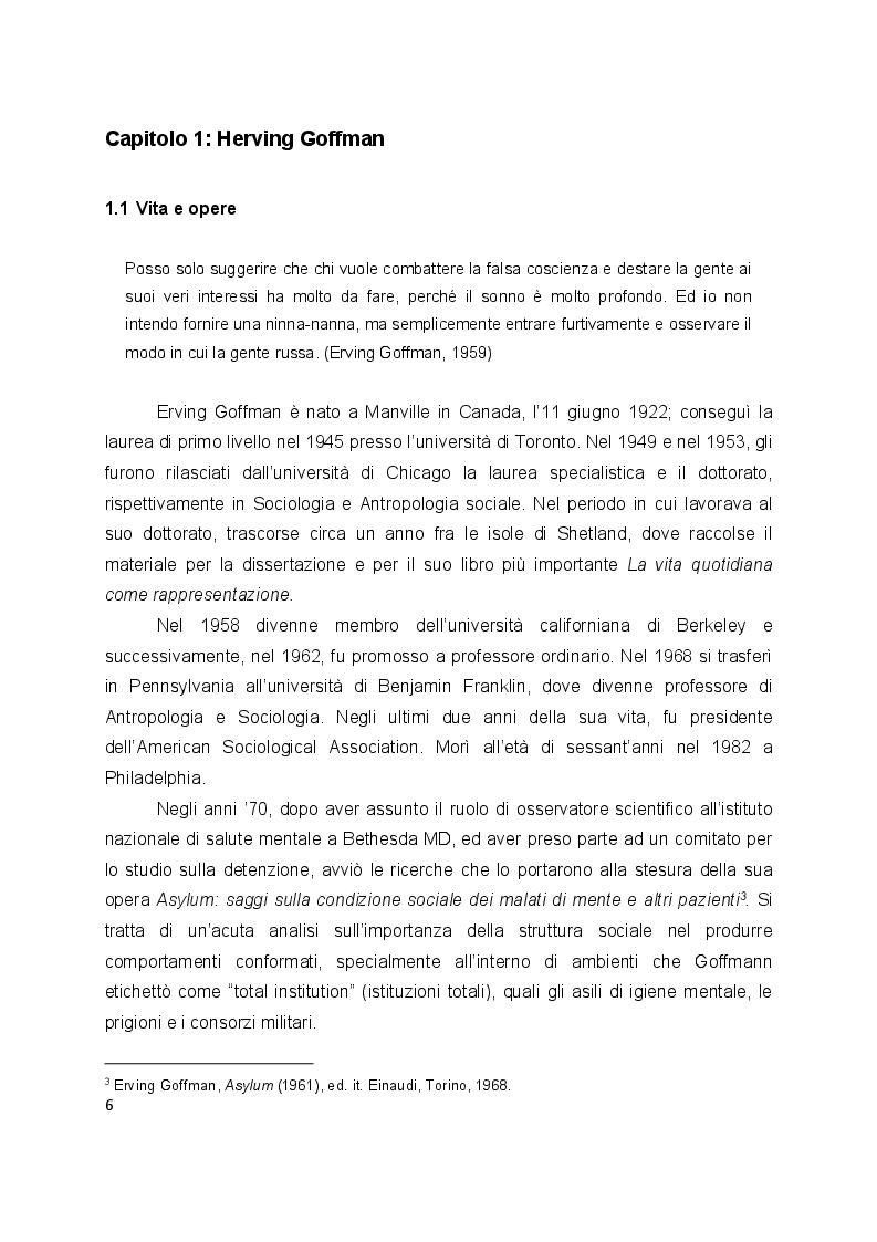 Anteprima della tesi: L'interazione secondo Erving Goffman e Harvey Sacks, Pagina 4