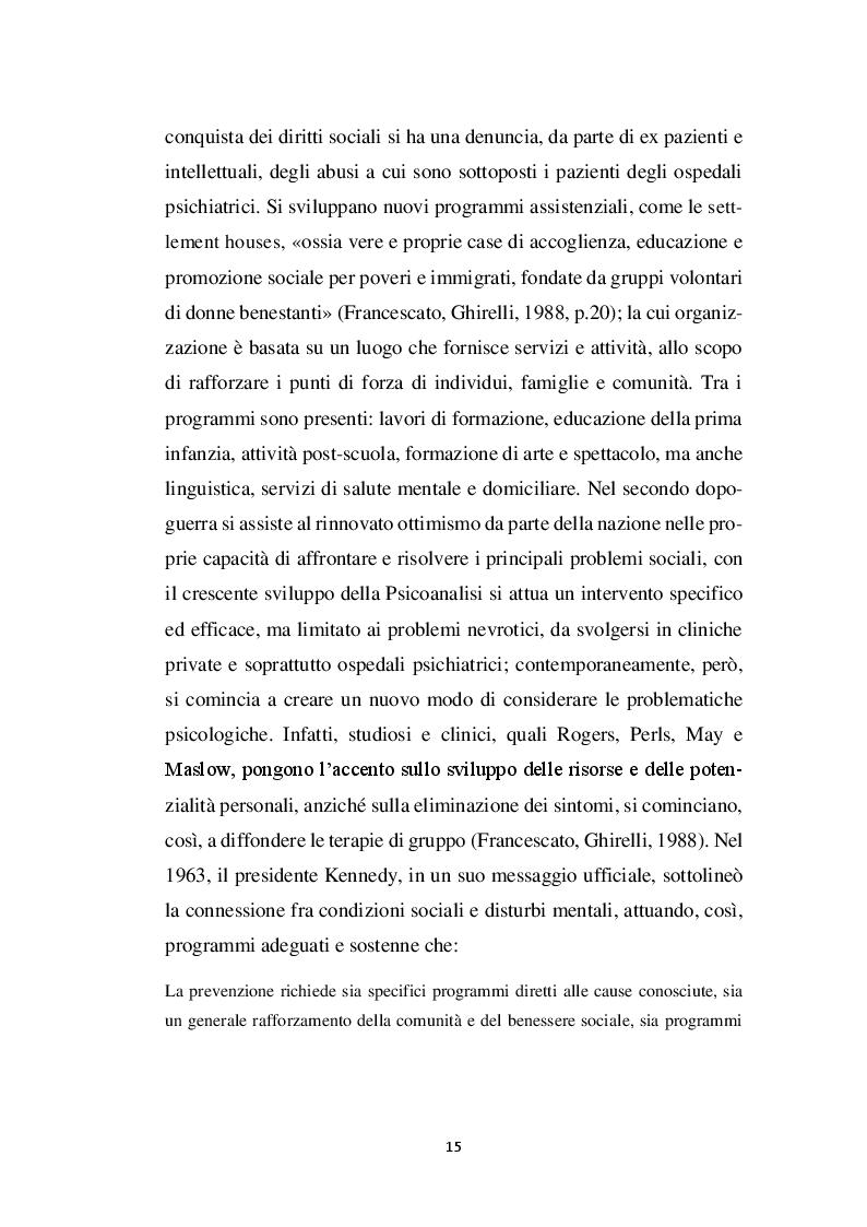 Estratto dalla tesi: La relazione educativa nelle comunità per minori e il legame con la famiglia d'origine