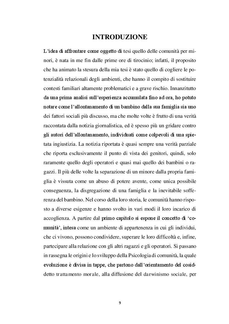 Anteprima della tesi: La relazione educativa nelle comunità per minori e il legame con la famiglia d'origine, Pagina 2
