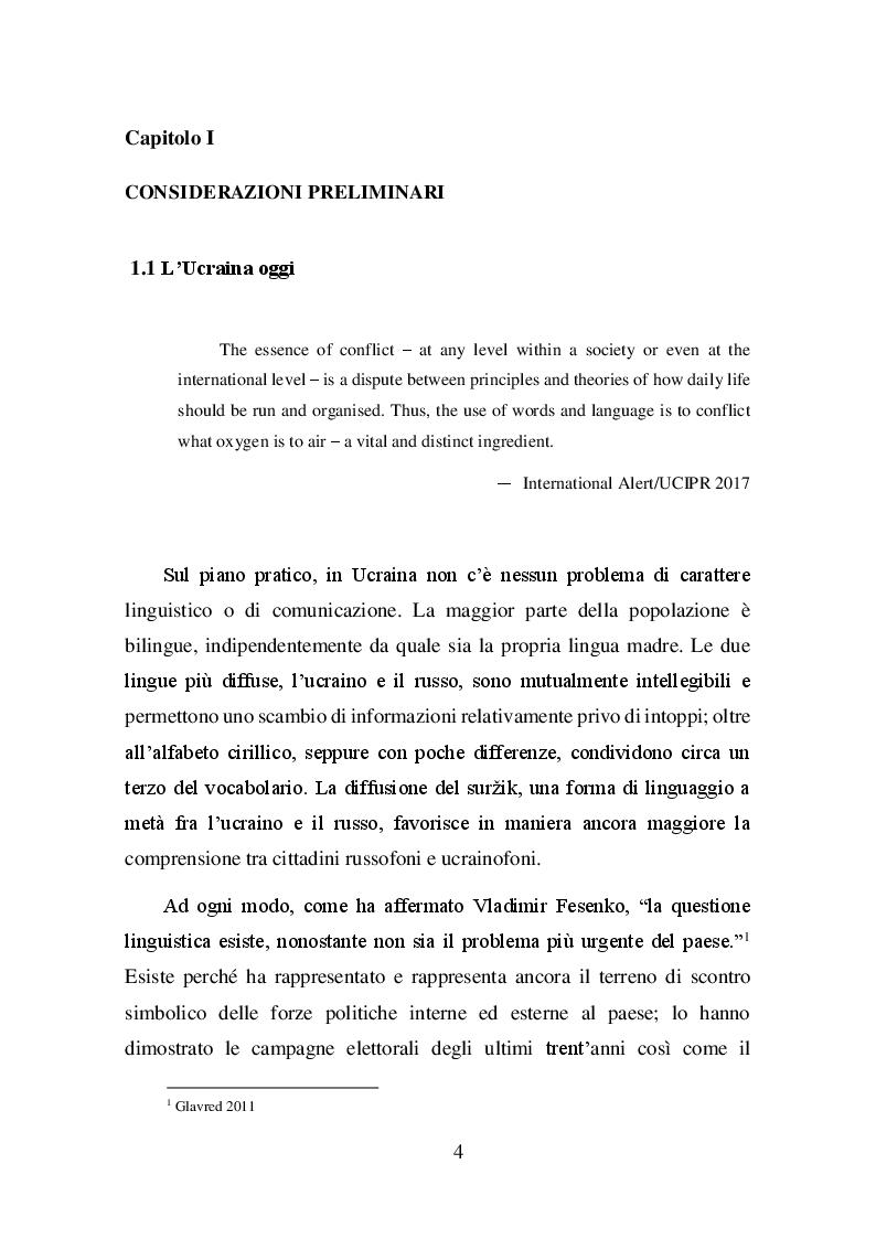 Anteprima della tesi: La questione linguistica in Ucraina, Pagina 4