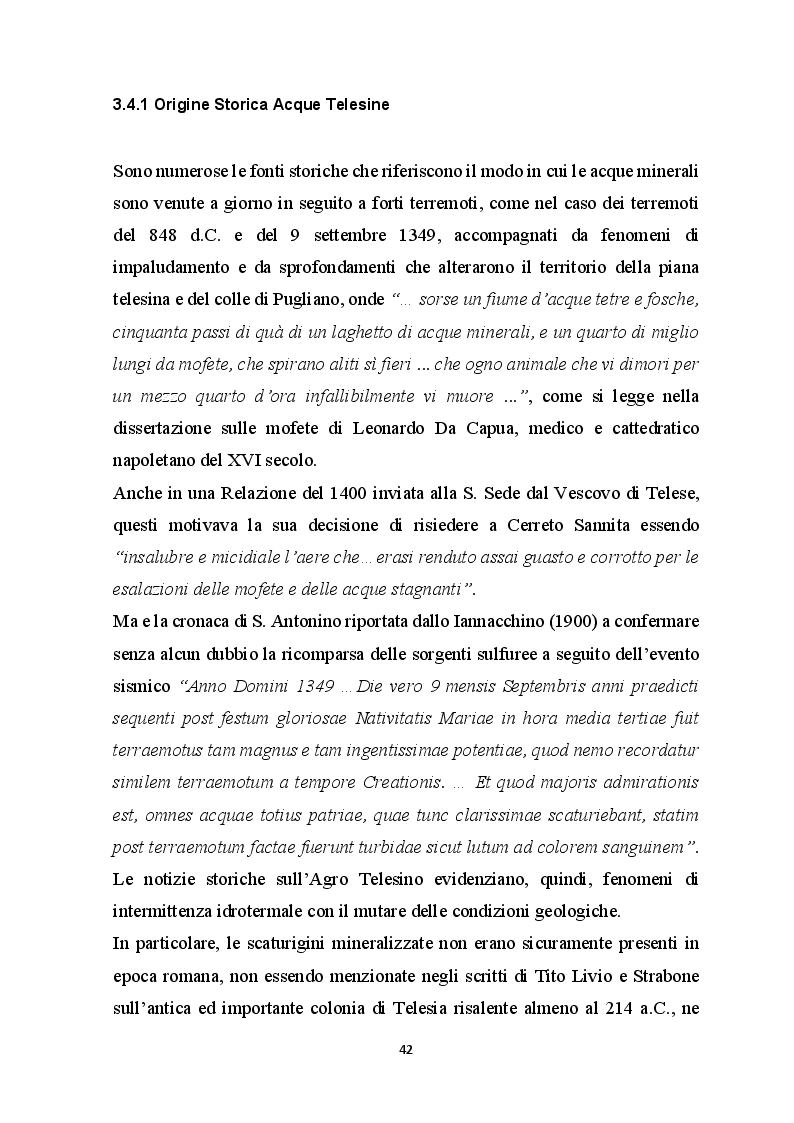Estratto dalla tesi: Elementi Idrogeologici delle Sorgenti di Monte Pugliano (Valle Telesina, BN)