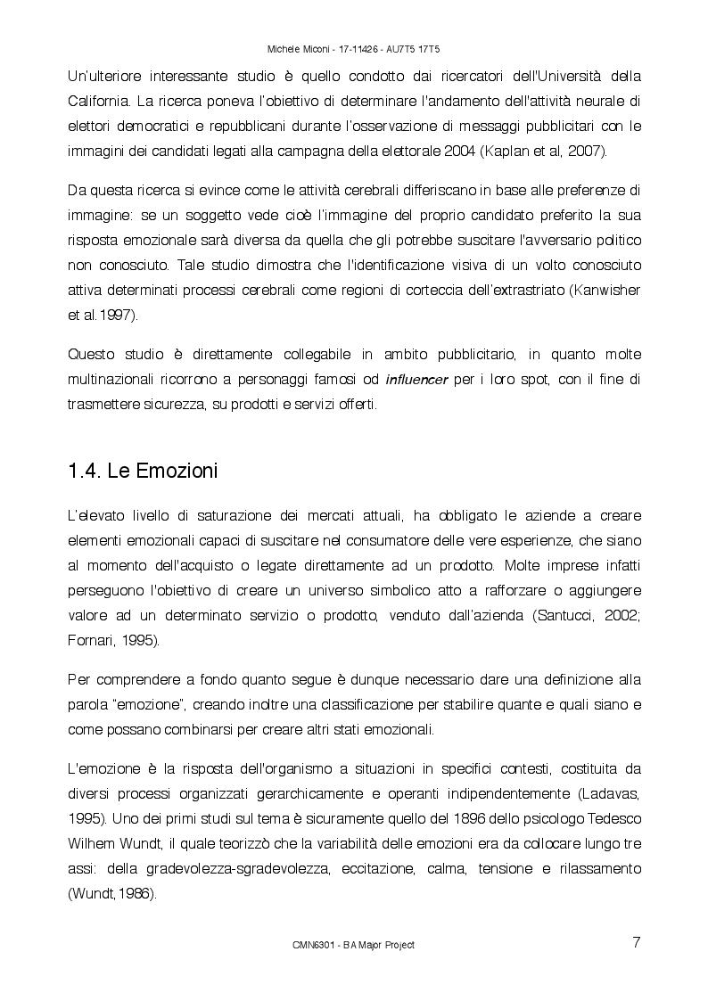 Estratto dalla tesi: Sonic Branding: percezione sonora nell'era emozionale