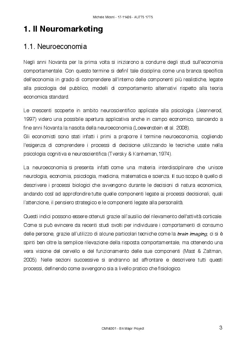Anteprima della tesi: Sonic Branding: percezione sonora nell'era emozionale, Pagina 4