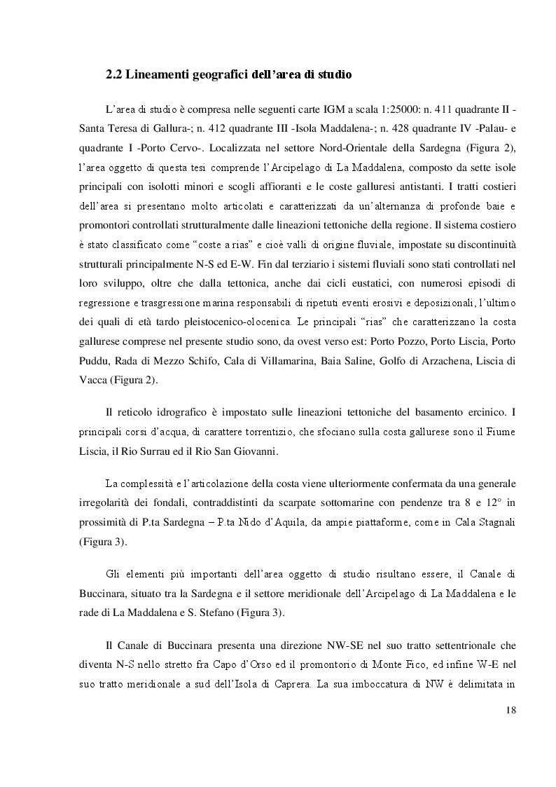 Anteprima della tesi: Mappatura morfo-sedimentologica e classificazione degli impatti antropici presenti nelle praterie di Posidonia oceanica del Canale di Buccinara  (Arcipelago di La Maddalena)., Pagina 5