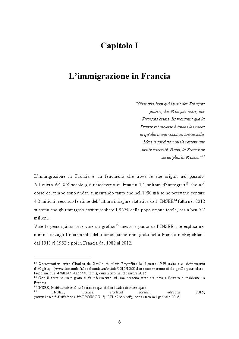 Anteprima della tesi: La crisi del modello assimilazionista in Francia, Pagina 2