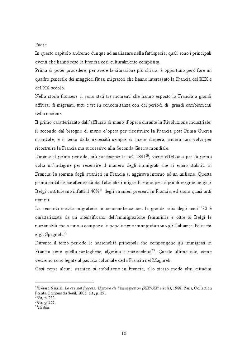 Anteprima della tesi: La crisi del modello assimilazionista in Francia, Pagina 4