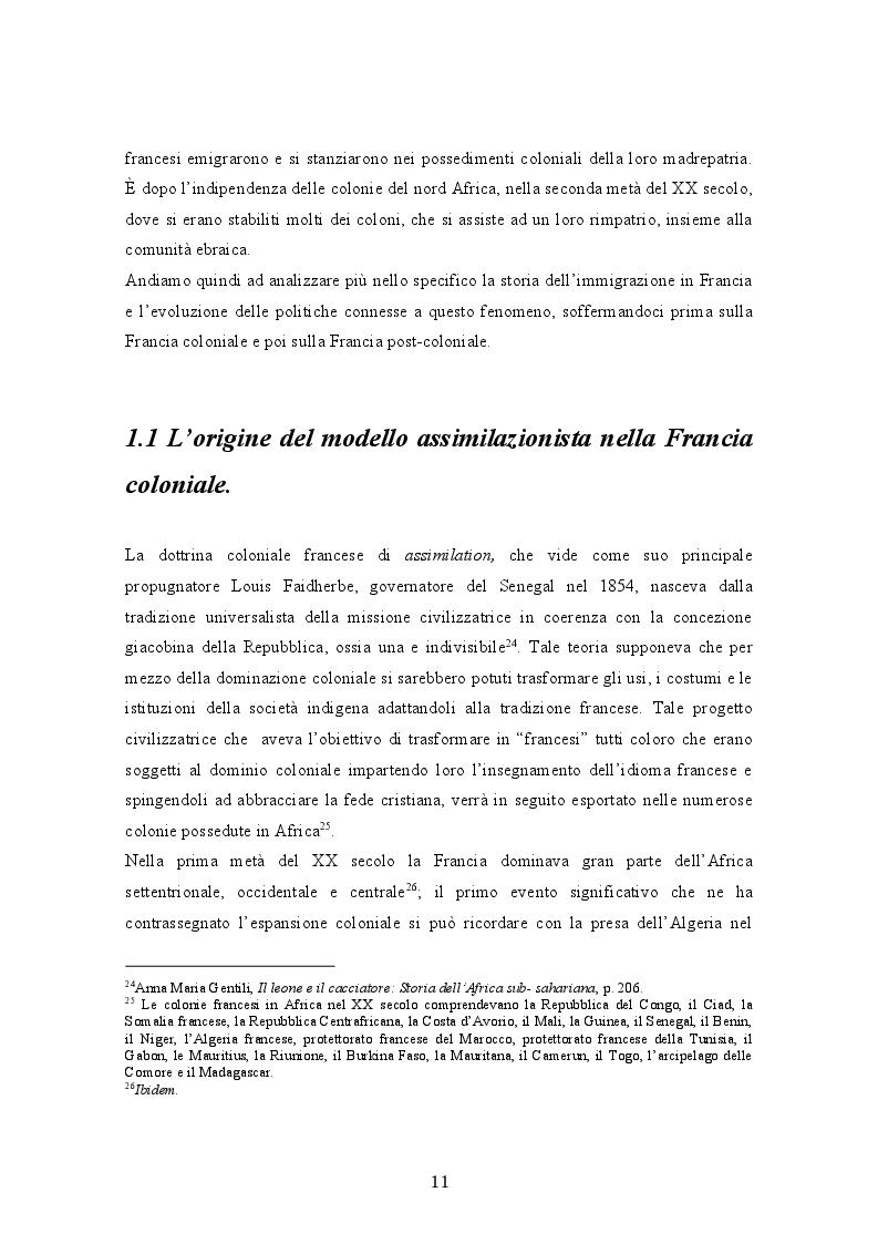 Anteprima della tesi: La crisi del modello assimilazionista in Francia, Pagina 5