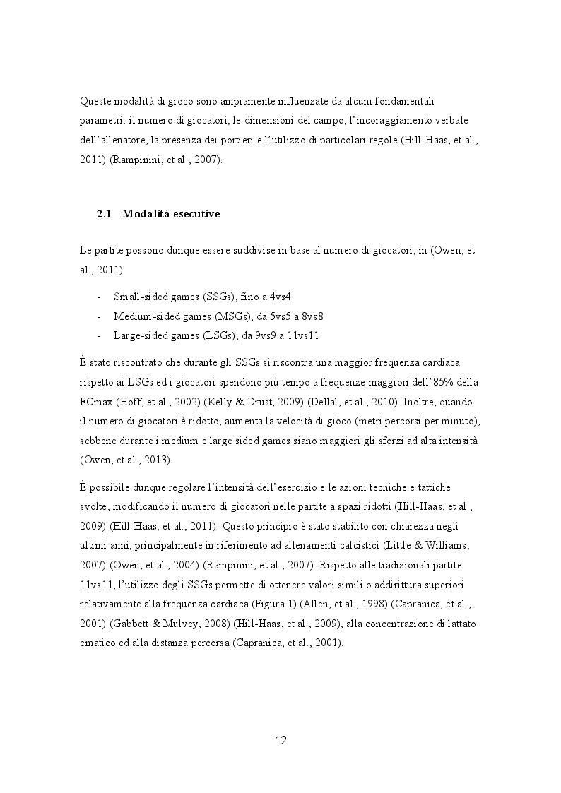 Anteprima della tesi: Efficacia e gradimento di allenamenti basati su small-sided games e sprint ripetuti nel calcio amatoriale, Pagina 4