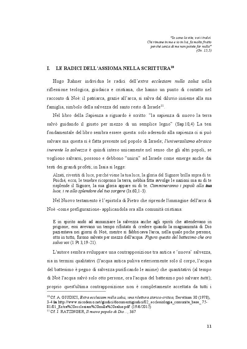 """Anteprima della tesi: Origini patristiche dell'assioma """"Extra Ecclesiam nulla salus"""", Pagina 2"""