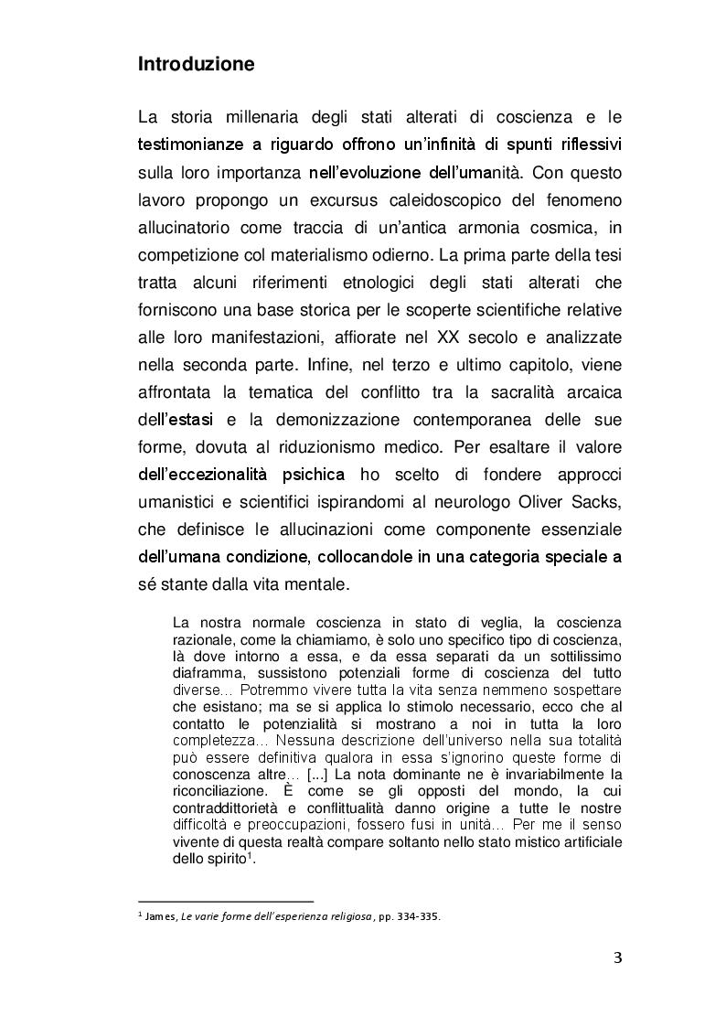 Anteprima della tesi: Alterazioni di coscienza: tra scienza e misticismo, Pagina 2