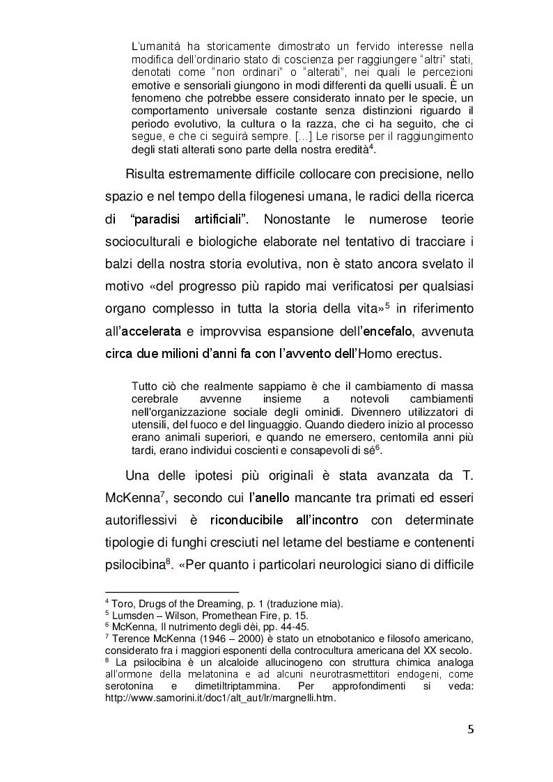Anteprima della tesi: Alterazioni di coscienza: tra scienza e misticismo, Pagina 4