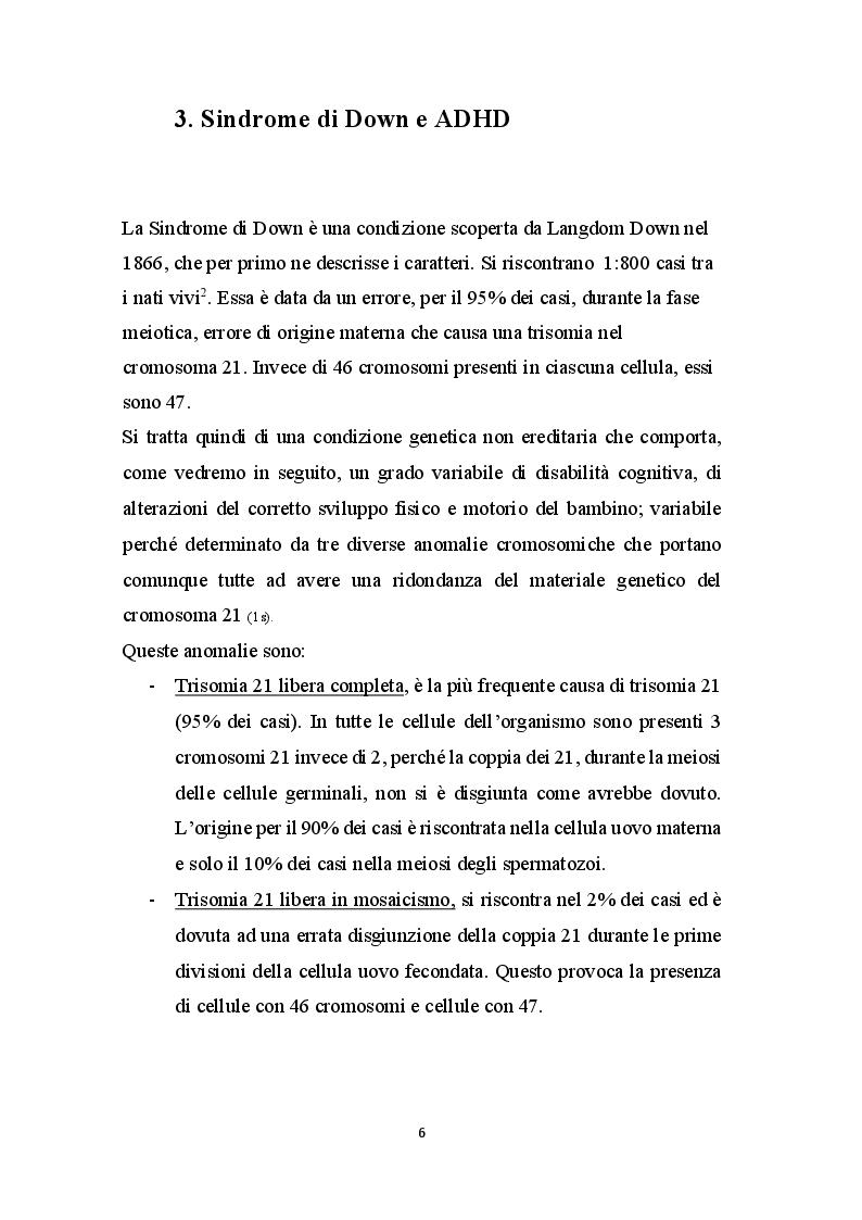 Anteprima della tesi: Basket - Yoga - Tai Chi per migliorare gli aspetti motori, cognitivi e relazionali nei bambini con Sindrome di Down, Pagina 5
