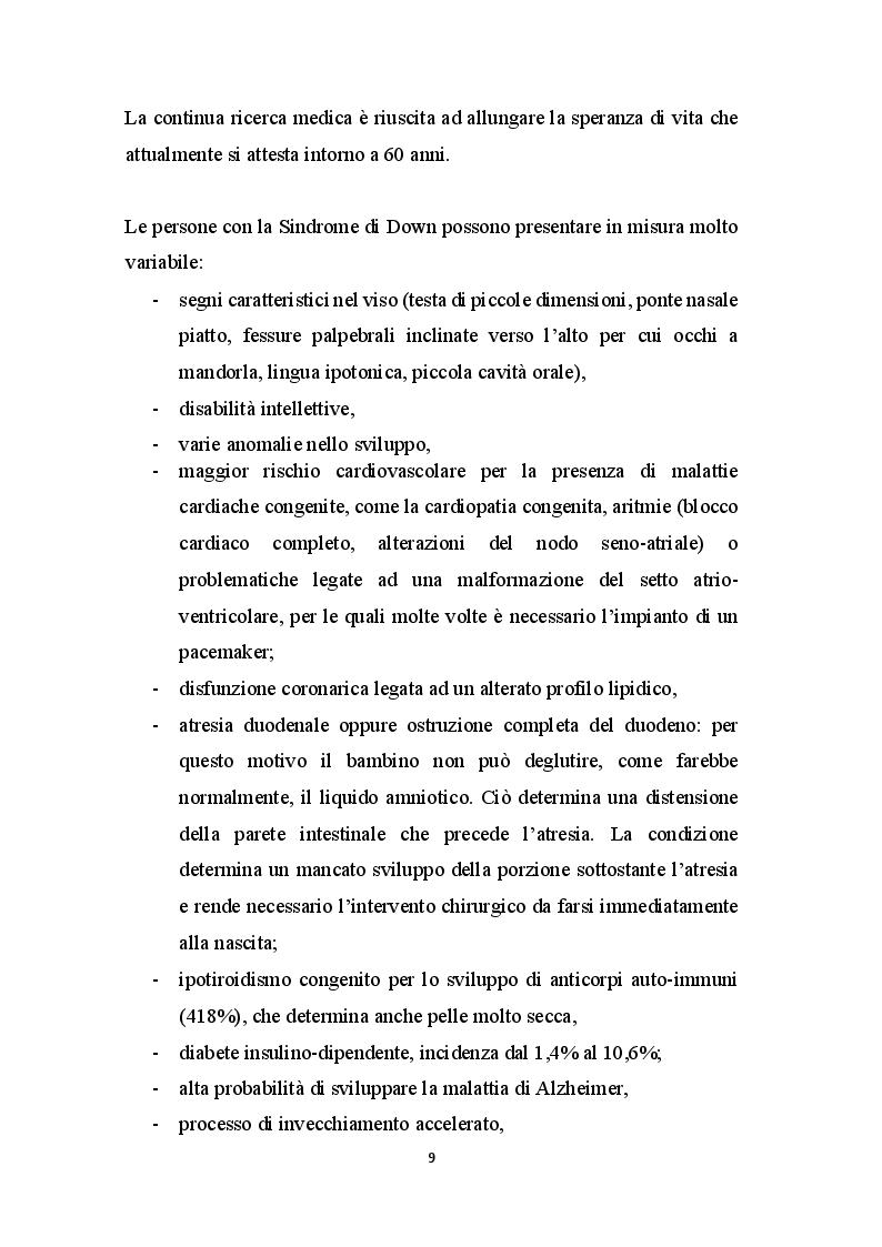 Anteprima della tesi: Basket - Yoga - Tai Chi per migliorare gli aspetti motori, cognitivi e relazionali nei bambini con Sindrome di Down, Pagina 8