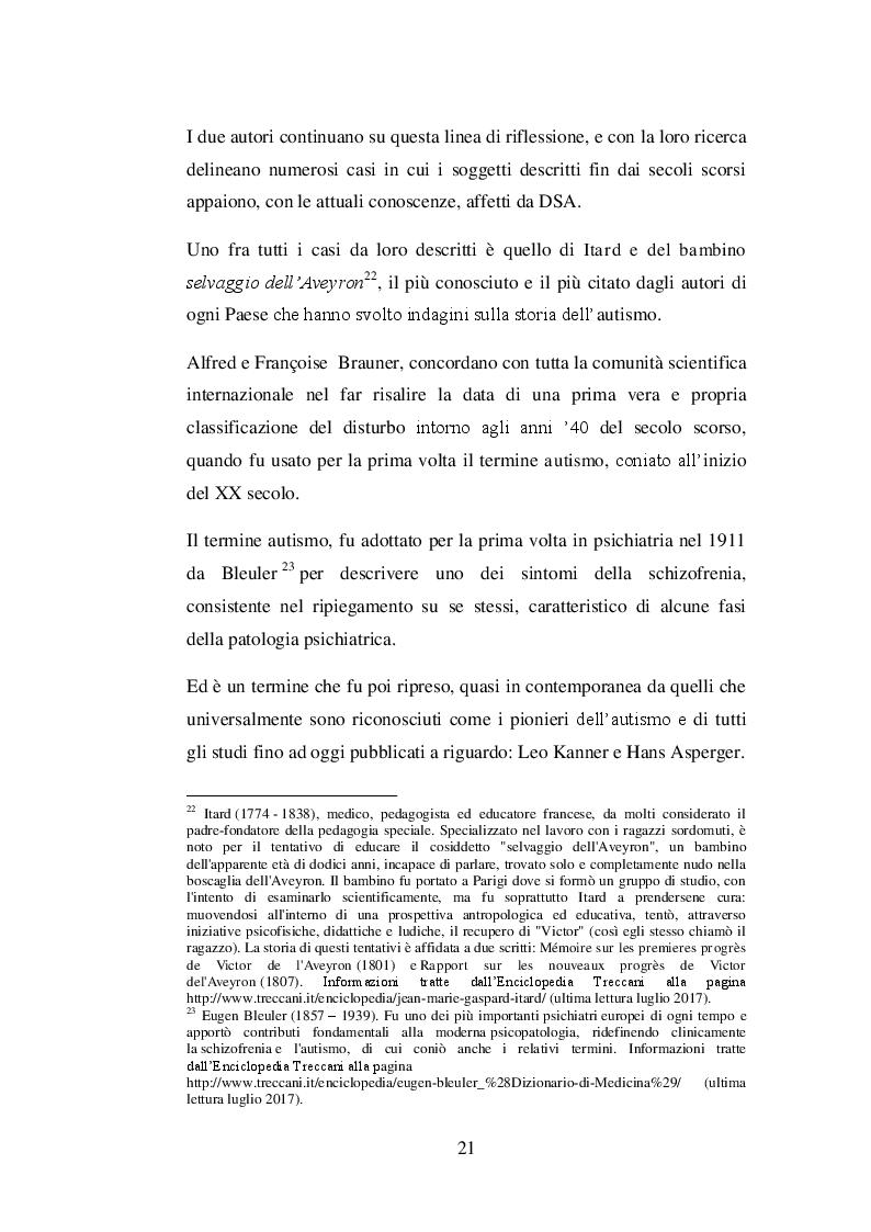 Estratto dalla tesi: Il trattamento psicoeducativo nell'autismo: Denver Model e ABA a confronto