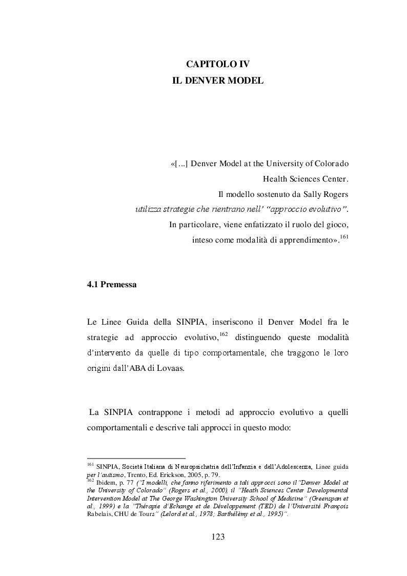 Anteprima della tesi: Il trattamento psicoeducativo nell'autismo: Denver Model e ABA a confronto, Pagina 2