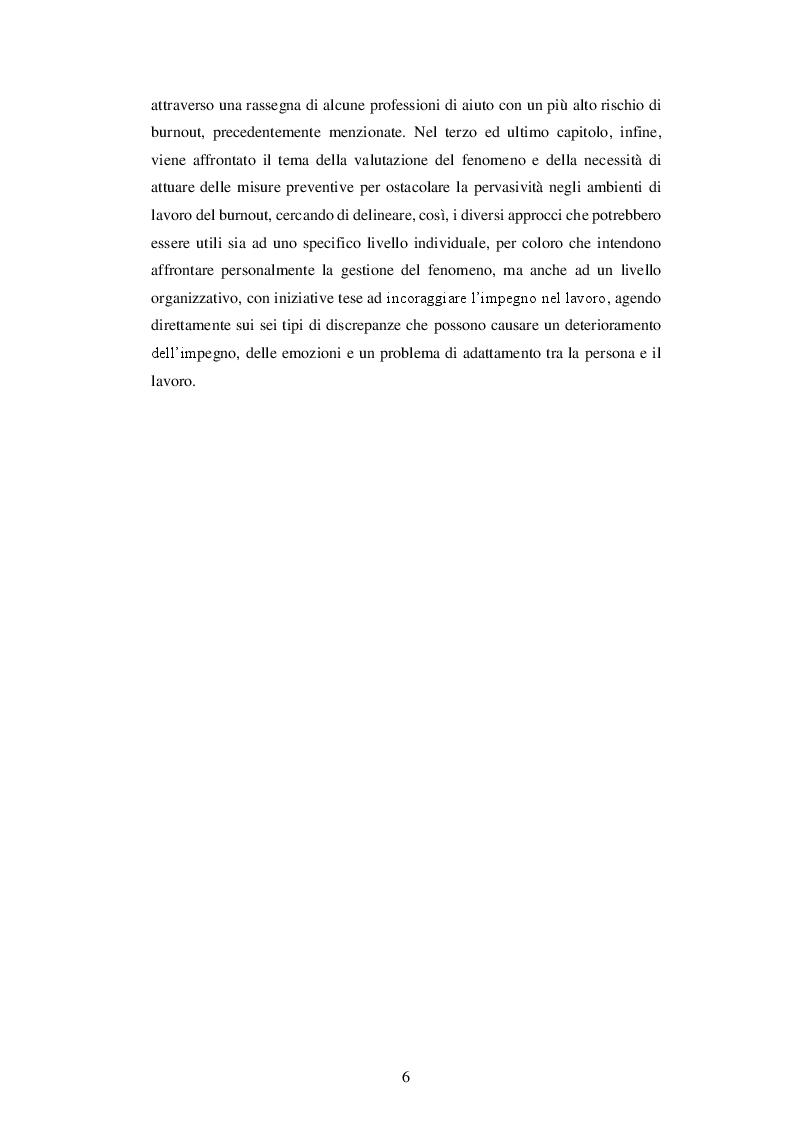 Anteprima della tesi: IL BURNOUT - Stress emotivo nelle professioni d'aiuto, Pagina 5