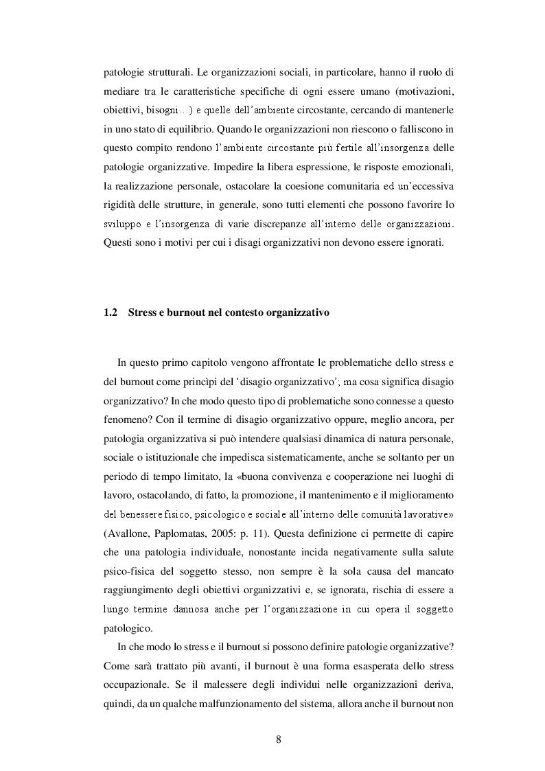 Anteprima della tesi: IL BURNOUT - Stress emotivo nelle professioni d'aiuto, Pagina 7