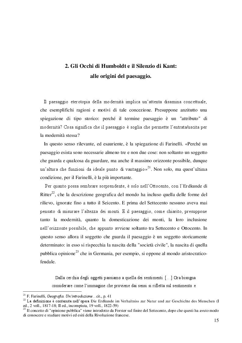 Estratto dalla tesi: Geografia e paesaggio. La Sirena di Tomasi di Lampedusa.