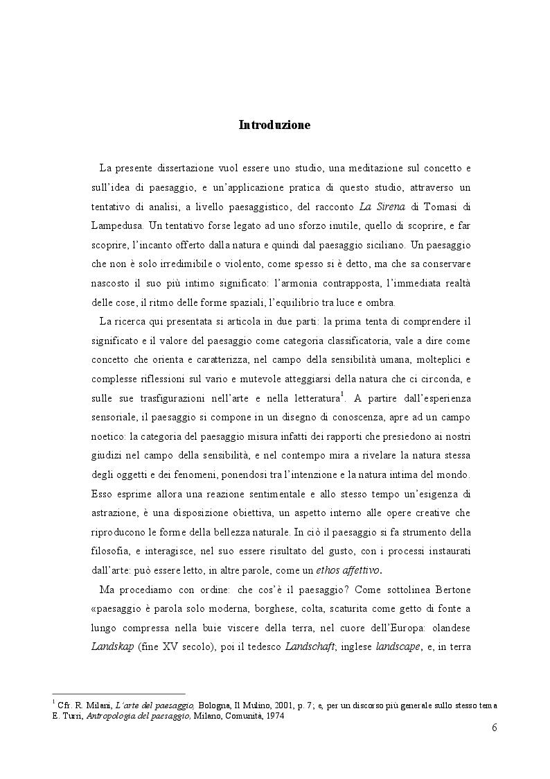 Anteprima della tesi: Geografia e paesaggio. La Sirena di Tomasi di Lampedusa., Pagina 2