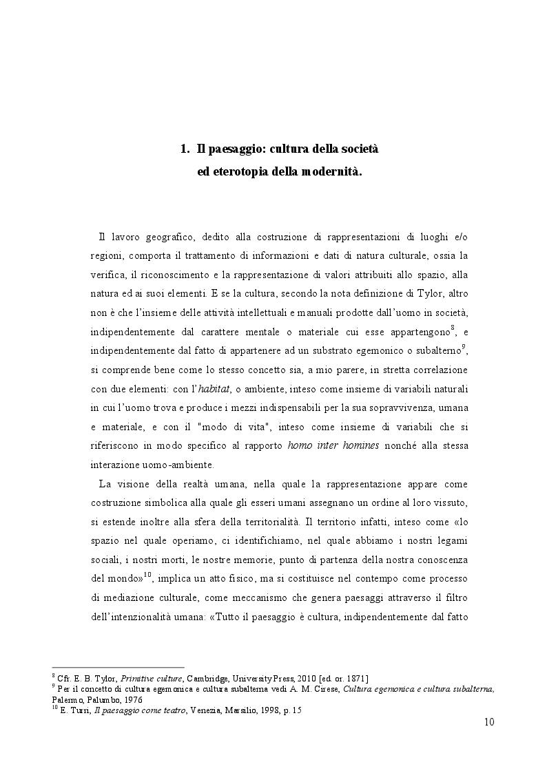 Anteprima della tesi: Geografia e paesaggio. La Sirena di Tomasi di Lampedusa., Pagina 6