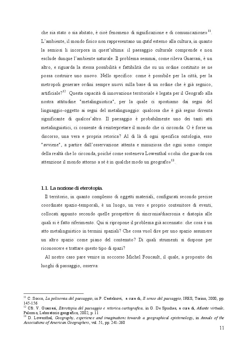 Anteprima della tesi: Geografia e paesaggio. La Sirena di Tomasi di Lampedusa., Pagina 7