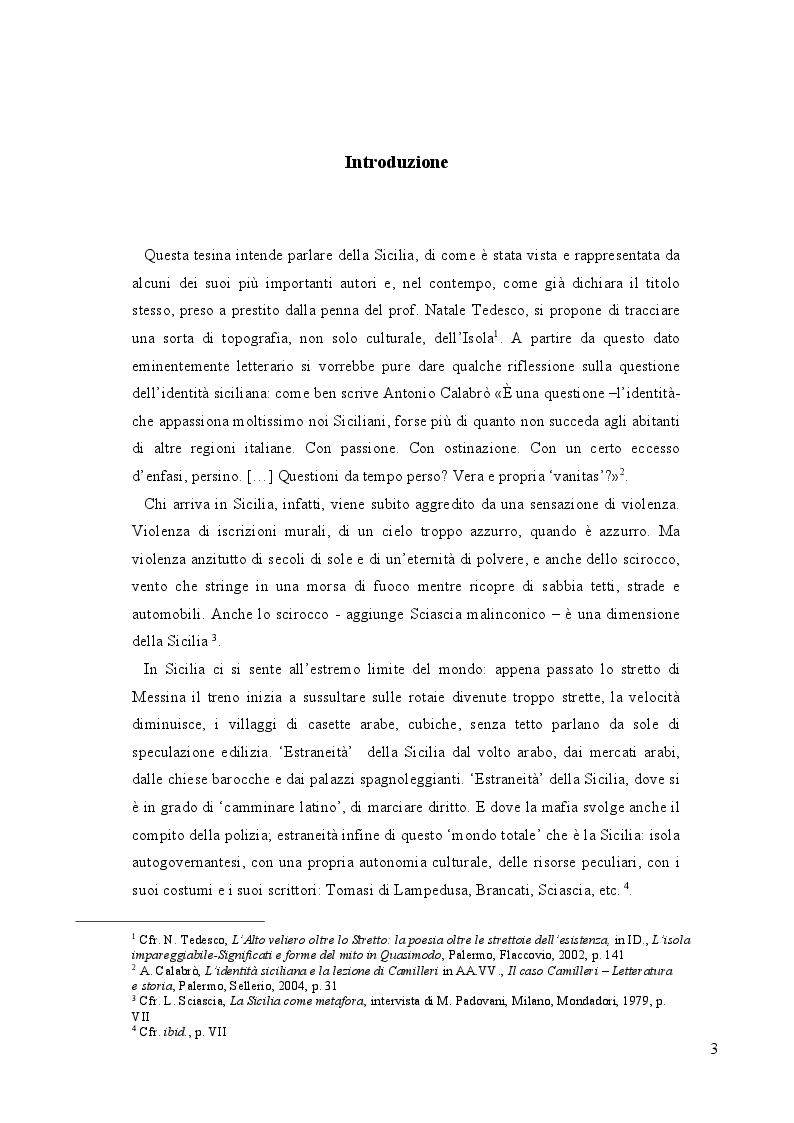 Anteprima della tesi: L'Alto Veliero oltre lo Stretto: la letteratura della Sicilia oltre le strettoie dell'esistente., Pagina 2