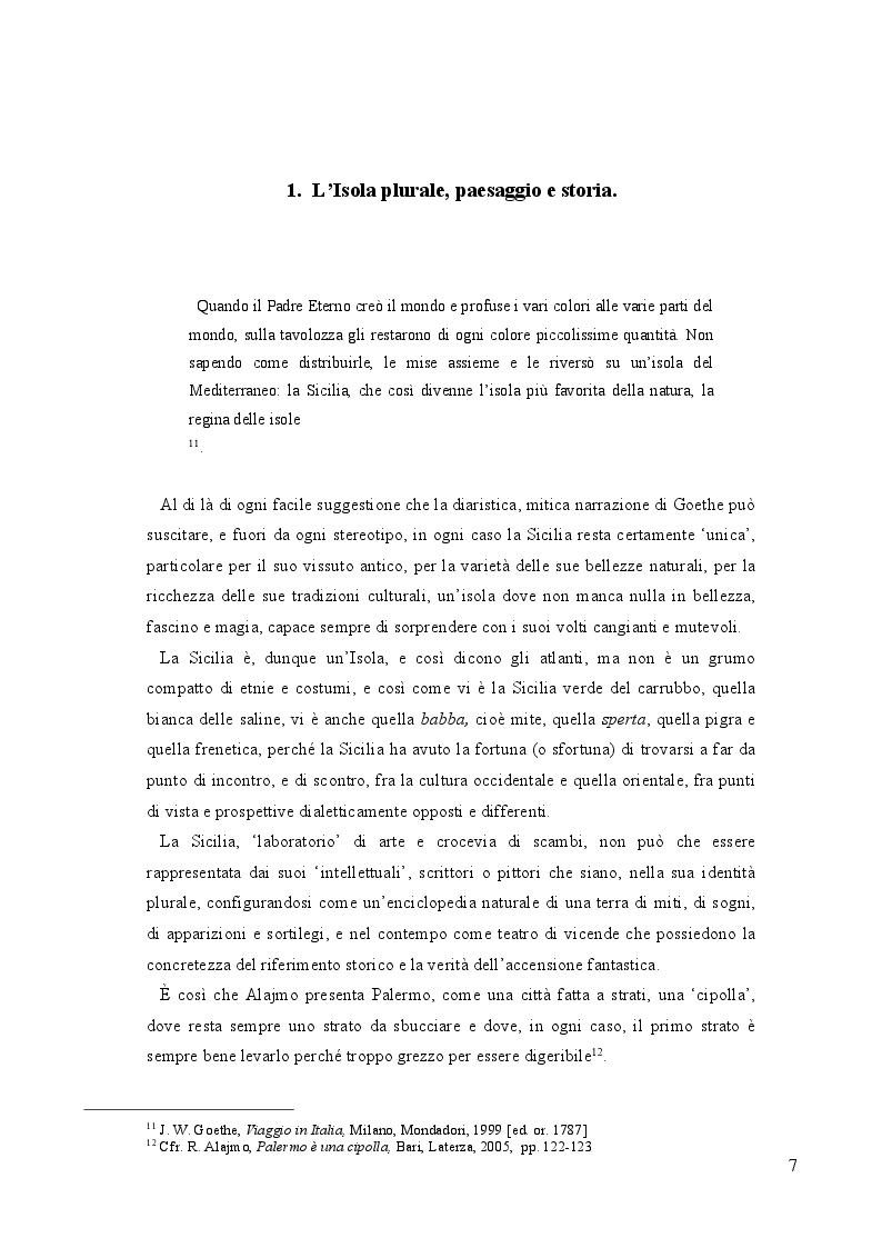Anteprima della tesi: L'Alto Veliero oltre lo Stretto: la letteratura della Sicilia oltre le strettoie dell'esistente., Pagina 6