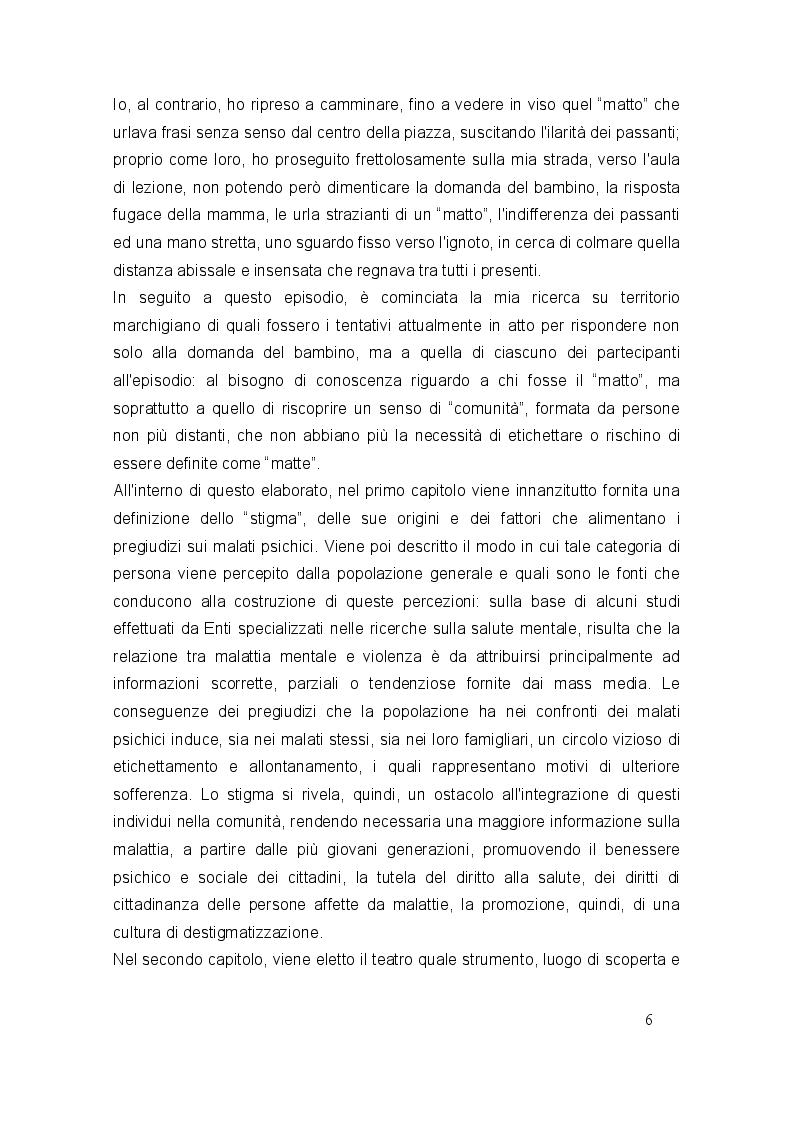 Anteprima della tesi: A scuola di salute mentale con il teatro, Pagina 3