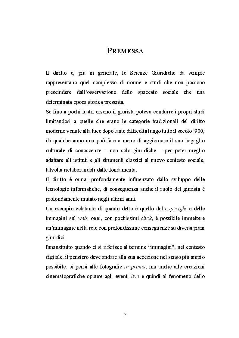 Anteprima della tesi: Le immagini ed il diritto d'autore sul web, Pagina 2