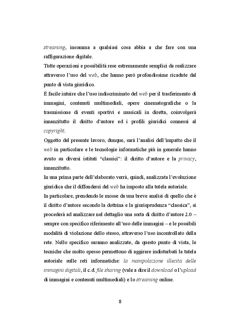 Anteprima della tesi: Le immagini ed il diritto d'autore sul web, Pagina 3