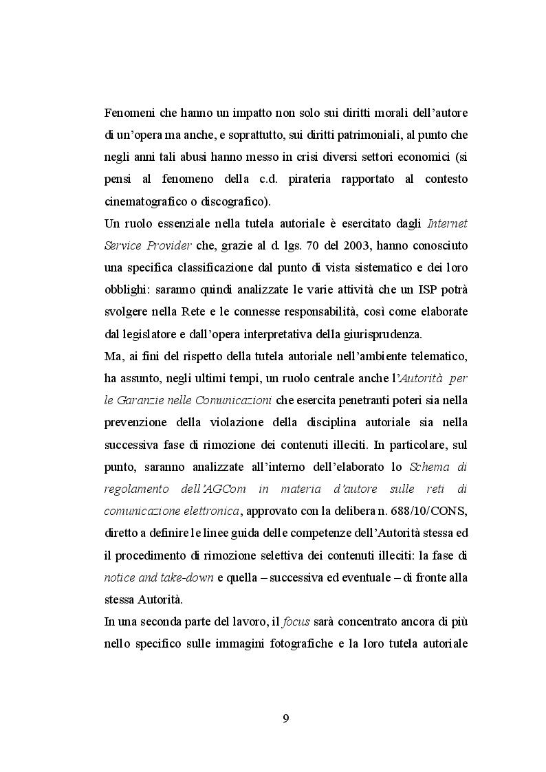 Anteprima della tesi: Le immagini ed il diritto d'autore sul web, Pagina 4