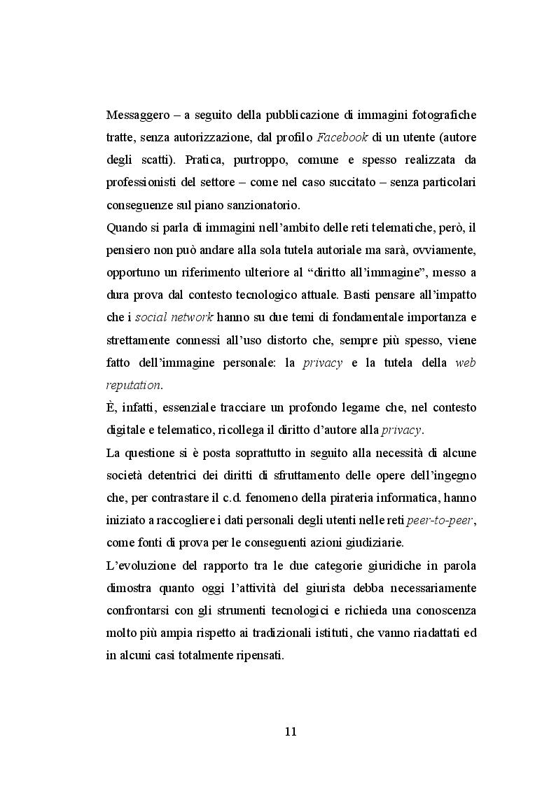 Anteprima della tesi: Le immagini ed il diritto d'autore sul web, Pagina 6
