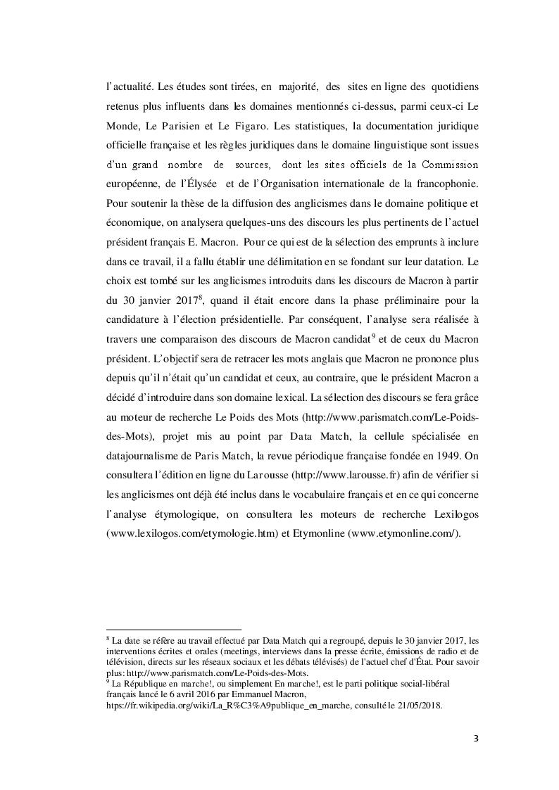 Anteprima della tesi: Do you speak Macron? À propos des anglicismes du president francais, Pagina 4