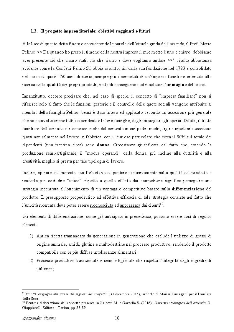 Anteprima della tesi: Analisi di fattibilità riguardante il processo d'internazionalizzazione di una PMI Italiana: il caso Confetti Pelino S.r.l., Pagina 2