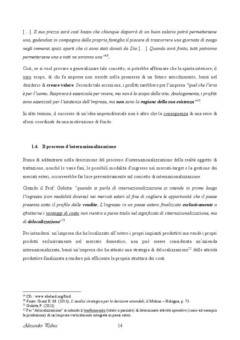 Anteprima della tesi: Analisi di fattibilità riguardante il processo d'internazionalizzazione di una PMI Italiana: il caso Confetti Pelino S.r.l., Pagina 6