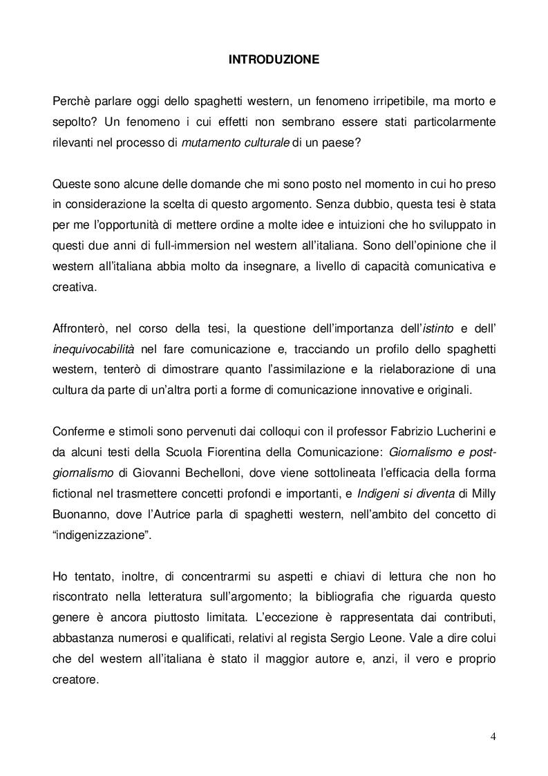 Anteprima della tesi: Nel dubbio, fate uno spaghetti western: l'italianità di un genere, Pagina 2