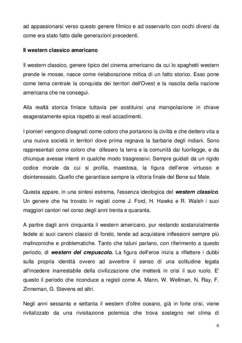 Anteprima della tesi: Nel dubbio, fate uno spaghetti western: l'italianità di un genere, Pagina 4